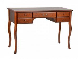Κονσόλα-γραφείο από μασίφ ξύλο σε χρώμα καρυδί 115x54x79
