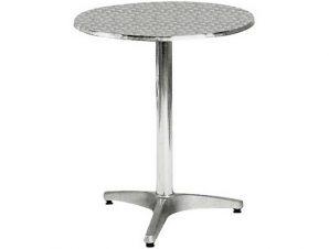 """Τραπέζι """"PALMA"""" στρογγυλό αλουμινίου 60×70"""