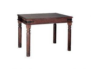 """Τραπέζι """"OSTIA"""" χρώματος καρυδί 80x80x76"""