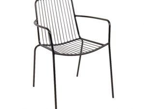 """Πολυθρόνα """"NEXUS"""" μεταλλική σε μαύρο χρώμα 56x58x80"""