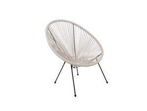 """Πολυθρόνα """"ACAPULCO"""" μεταλλική από λευκό χρώμα 74x80x84"""