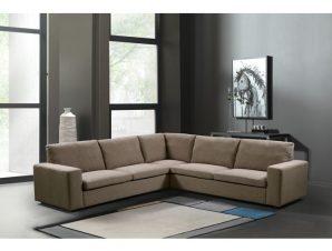 """Καναπές """"PACIFIC"""" πολυμορφικός υφασμάτινος σε καφέ χρώμα 260x260x82/85"""