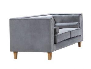 """Καναπές υφασμάτινος διθέσιος """"MIDLAND"""" σε χρώμα γκρι 152x86x77"""