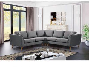 """Καναπές γωνία αναστρέψιμος """"ATLANTIC"""" υφασμάτινος σε χρώμα γκρι 255/255x88x83"""