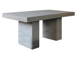 """Τραπέζι """"CONCRETE"""" από τσιμέντο σε χρώμα γκρι 160x90x75"""
