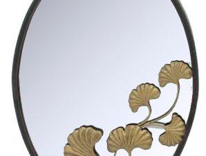 Μεταλλικός καθρέπτης Gold-Flower