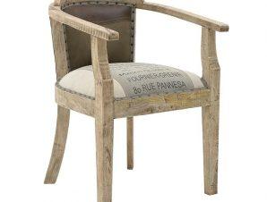 Καρέκλα Υφασμάτινη-Δερμάτινη inart 64x57x86εκ. 3-50-189-0026 (Χρώμα: Μπεζ) – inart – 3-50-189-0026