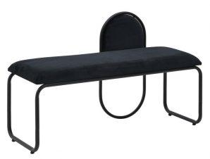 Ταμπουρέ Μαύρο Μέταλλο/Βελούδο 110x40x68cm 3-50-358-0026