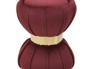 Σκαμπό Σκούρο Ροζ/Χρυσό Βελούδο Φ37x48cm 3-50-762-0018