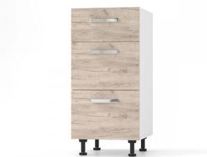"""Κάτω συρταριέρα κουζίνας """"CHARLOTΤE"""" σε χρώμα δρυς 40×46.5×82"""