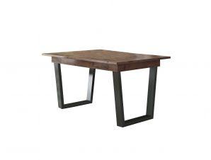 Τραπέζι φαγητού «ΗΦΑΙΣΤΟΣ» ανοιγόμενο σε χρώμα καρυδί 160(+40)x90x75
