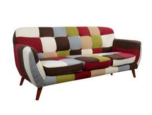 """Καναπές τριθέσιος """"CAROUSEL"""" υφασμάτινος πολύχρωμος 180x73x80"""