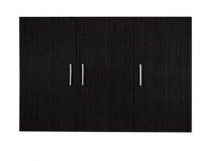 Πατάρι ντουλάπας τρίφυλλο σε zebrano χρώμα 90x42x60