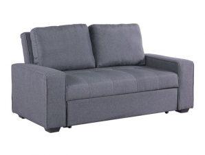 Καναπές κρεβάτι υφασμάτινος σε γκρι χρώμα 176x102x91