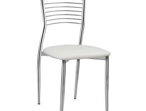 Καρέκλα «ELVIRA» μεταλλική/PU σε χρώμα λευκό 40x44x83