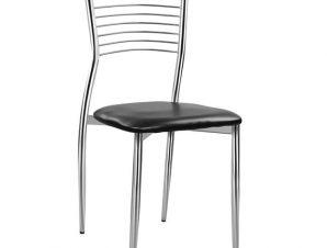 Καρέκλα «ELVIRA» μεταλλική/PU σε χρώμα μαύρο 40x44x83