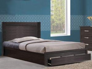 """Κρεβάτι ημίδιπλο """"MELANY"""" σε χρώμα ζεμπράνο 119x196x92,5"""