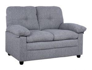 Καναπές διθέσιος από ύφασμα σε χρώμα γκρι 142x84x93