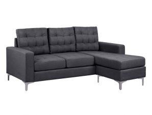 Καναπές γωνία από ύφασμα σε χρώμα γκρι 192x129x82