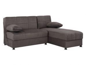 Καναπές «EGE» γωνιακός από ύφασμα σε χρώμα γκρι 188x145x84