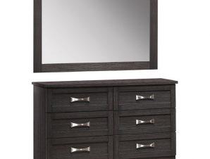 Συρταριέρα με καθρέπτη σε χρώμα ζεμπράνο 120x40x76