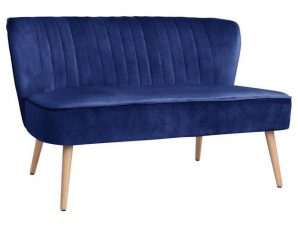 Καναπές 2Θέσιος Andy Blue HM8401.08 128x70x77Υ εκ.