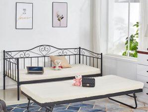 Καναπές Κρεβάτι 190Χ90 Black 85Χ185 HM571.01