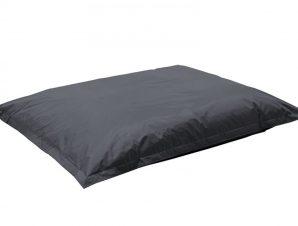 """Πουφ μαξιλάρι """"PIGRO"""" υφασμάτινο σε χρώμα γκρι 175x135x25"""
