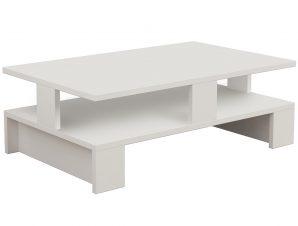 Τραπεζάκι σαλονιού «MANSU» σε χρώμα λευκό 80x50x27,5