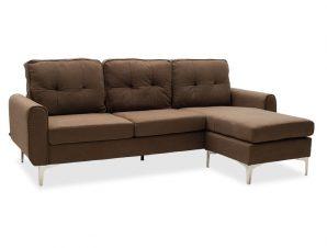 """Γωνιακός καναπές """"BALLON"""" αναστρέψιμος υφασμάτινος σε χρώμα καφέ 218x135x83,5"""