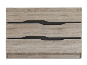 """Συρταριέρα """"COMFY"""" με 3 συρτάρια σε χρώμα σονόμα-ανθρακί 100×38,5×71"""