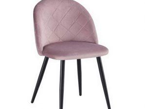 Καρέκλα Bella ΕΜ759,1 50x57x81cm Black Dirty Pink