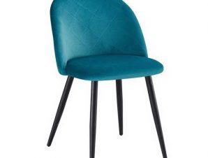 Καρέκλα Bella ΕΜ759,3 50x57x81cm Black Petrol