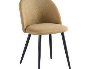 Καρέκλα Bella ΕΜ757,4 50x57x81cm Black Gold-Brown
