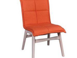 Καρέκλα Forex Ε7765,2 50x58x83cm White-Orange