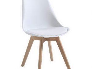 Καρέκλα Martin ΕΜ136,10W 48x56x82cm White