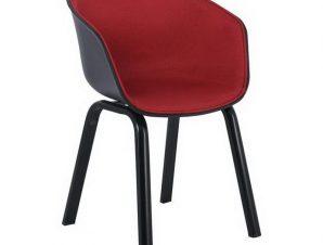 Πολυθρόνα Optim ΕΜ140Β,2F 54x51x79cm Black Bordeaux