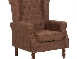 Πολυθρόνα – Μπερζέρα Rosy Ε7118,1Κ 76x80x103cm Walnut-Brown
