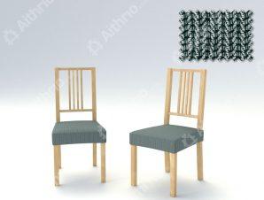 Σετ (2 Τμχ) Ελαστικά Καλύμματα-Καπάκια Καρέκλας Creta – C/17 Ασπρόμαυρο