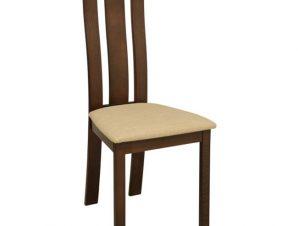Καρέκλα Υφασμάτινη-Ξύλινη Καρυδί-Μπεζ 46x50x101Υεκ. Freebox FB90070.01 (Υλικό: Ξύλο, Χρώμα: Μπεζ) – Freebox – FB90070.01