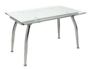 Τραπέζι Ανοιγόμενο Γυάλινο Λευκό 120(25+25)x80x75εκ. Freebox FB90085.01 (Υλικό: Γυαλί, Χρώμα: Λευκό) – Freebox – FB90085.01