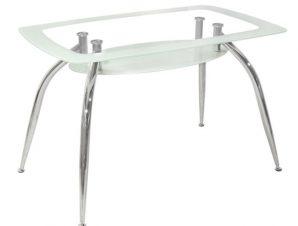 Τραπέζι Γυάλινο Λευκό 120x75x75εκ. Freebox FB90086.01 (Υλικό: Γυαλί, Χρώμα: Λευκό) – Freebox – FB90086.01