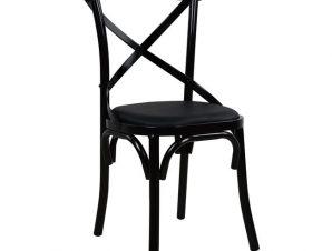 Καρέκλα Μεταλλική-Pu Μαύρη Freebox 43,5x46x91εκ. FB90140.01 (Υλικό: Μεταλλικό, Χρώμα: Μαύρο) – Freebox – FB90140.01
