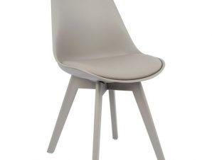 Καρέκλα Pu-Πολυπροπυλενίου Γκρι 48x56x82εκ. Freebox FB90033.40 (Υλικό: PU, Χρώμα: Γκρι) – Freebox – FB90033.40