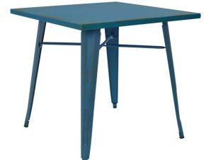 Τραπέζι Μεταλλικό Μπλε Πατίνα 80x80x76εκ. FB90608.88 (Υλικό: Μεταλλικό, Χρώμα: Μπλε) – Freebox – FB90608.88