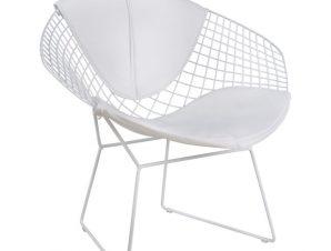 Καρέκλα Πολυθρόνα Μεταλλικό-Pu Λευκή 81x67x79εκ. Freebox FB98045.02 (Υλικό: Μεταλλικό, Χρώμα: Λευκό) – Freebox – FB98045.02