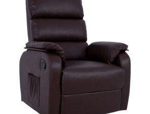 Πολυθρόνα Pu Με Μηχανισμό Massage Καφέ 78x97x97εκ. Freebox FB98316.02 (Υλικό: PU, Χρώμα: Καφέ) – Freebox – FB98316.02