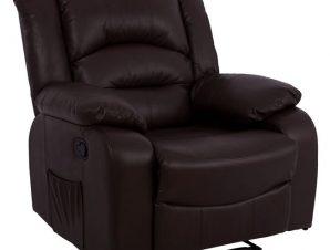 Πολυθρόνα Pu Με Μηχανισμό Massage Καφέ 92x95x98εκ. Freebox FB98317.02 (Υλικό: PU, Χρώμα: Καφέ) – Freebox – FB98317.02