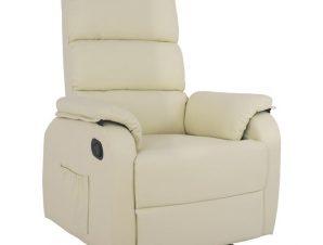 Πολυθρόνα Pu Με Μηχανισμό Massage Εκρού 78x97x97εκ. Freebox FB98316.03 (Υλικό: PU, Χρώμα: Εκρού ) – Freebox – FB98316.03