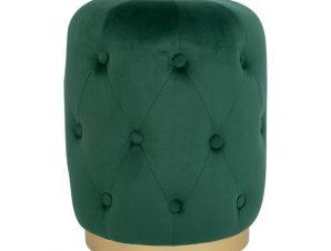 Σκαμπώ Βελούδο Κυπαρισσί Με Χρυσή Βάση 37×46Υεκ. Freebox FB98405.03 (Ύφασμα: Βελούδο, Χρώμα: Χρυσό ) – Freebox – FB98405.03